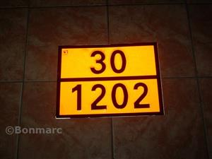 PLACA  ADR 30/1202 PE SUPORT 300X400mm